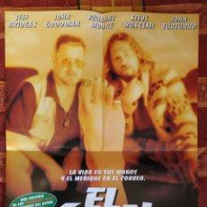 Cine: POSTER EL GRAN LEBOWSKI (COEN) + DEEP IMPACT. Lote 191298095