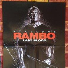 Cine: POSTER RAMBO LAST BLOOD + LA CASA DE PAPEL. Lote 191298855