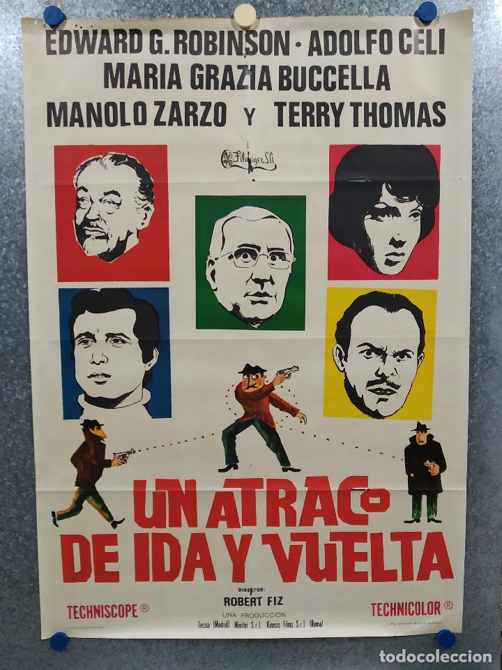 UN ATRACO DE IDA Y VUELTA. EDWARD G. ROBINSON, ADOLFO CELI, MARIA GRAZIA BUCCELLA. POSTER ORIGINAL (Cine - Posters y Carteles - Comedia)