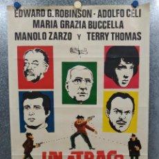Cine: UN ATRACO DE IDA Y VUELTA. EDWARD G. ROBINSON, ADOLFO CELI, MARIA GRAZIA BUCCELLA. POSTER ORIGINAL. Lote 191492320