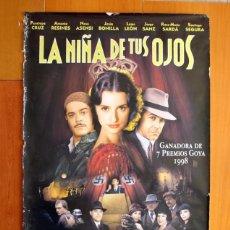 Cine: PÓSTER DE CARTELERA DE CINE - LA NIÑA DE TUS OJOS - PENÉLOPE CRUZ, ANTONIO RESINES 1998 - 99X68 CM. Lote 191492353