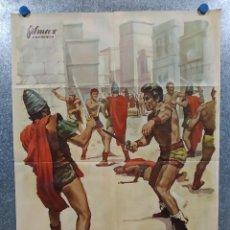 Cine: ESPARTACO Y LOS DIEZ GLADIADORES. DAN VADIS, HELGA LINÉ, AÑO 1965. POSTER ORIGINAL. Lote 191493201
