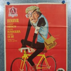 Cine: MAS VELOZ QUE EL VIENTO. BOURVIL, ROBERT HIRSCH AÑO 1969. POSTER ORIGINAL. Lote 191518111