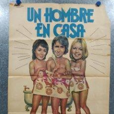 Cine: UN HOMBRE EN CASA. RICHARD O'SULLIVAN, PAULA WILCOX, SALLY THOMSETT. AÑO 1979. POSTER ORIGINAL. Lote 191525056