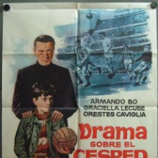 Cine: VT38D DRAMA SOBRE EL CESPED ARMANDO BO FUTBOL JANO POSTER ORIGINAL 70X100 ESTRENO. Lote 191590611