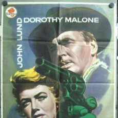 Cine: VM86D 5 PISTOLAS DOROTHY MALONE ROGER CORMAN JOHN LUND MAC POSTER ORIGINAL 70X100 ESTRENO. Lote 191596618