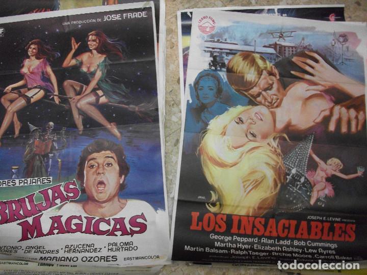 Cine: 17 CARTELES DE CINE ILUSTRADOS POR JANO 100 X 70 CM. CARTEL AÑOS 80-70 - Foto 3 - 191620415