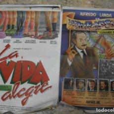 Cine: 35 CARTELES DE CINE ESPAÑOL 100 X 70 CM. CARTEL AÑOS 80-70. Lote 191621367