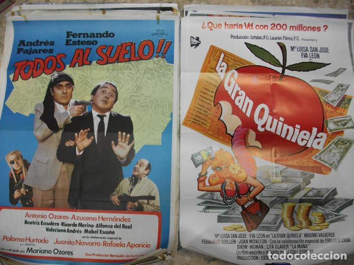 Cine: 35 CARTELES DE CINE ESPAÑOL 100 X 70 CM. CARTEL AÑOS 80-70 - Foto 2 - 191621367