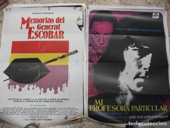 Cine: 35 CARTELES DE CINE ESPAÑOL 100 X 70 CM. CARTEL AÑOS 80-70 - Foto 3 - 191621367