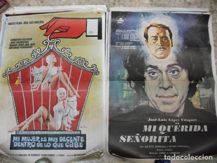 Cine: 35 CARTELES DE CINE ESPAÑOL 100 X 70 CM. CARTEL AÑOS 80-70 - Foto 4 - 191621367