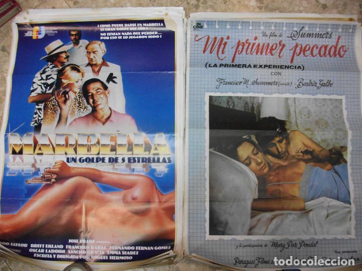 Cine: 35 CARTELES DE CINE ESPAÑOL 100 X 70 CM. CARTEL AÑOS 80-70 - Foto 5 - 191621367