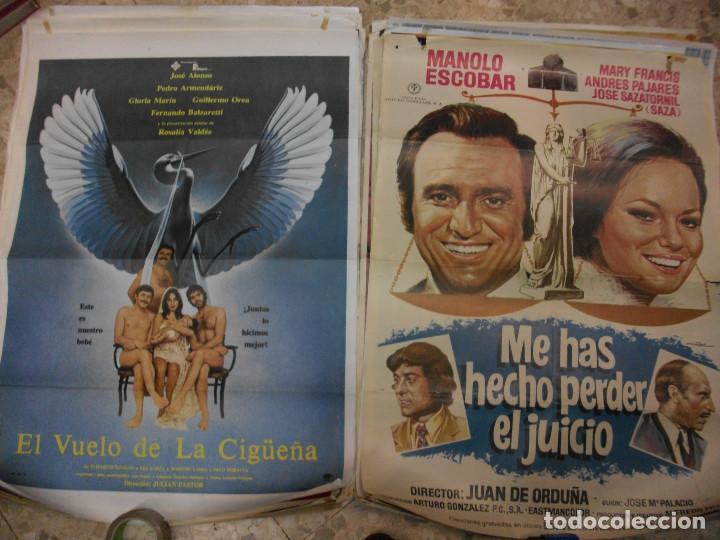 Cine: 35 CARTELES DE CINE ESPAÑOL 100 X 70 CM. CARTEL AÑOS 80-70 - Foto 6 - 191621367