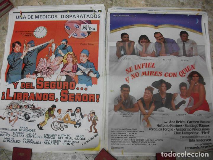 Cine: 35 CARTELES DE CINE ESPAÑOL 100 X 70 CM. CARTEL AÑOS 80-70 - Foto 9 - 191621367