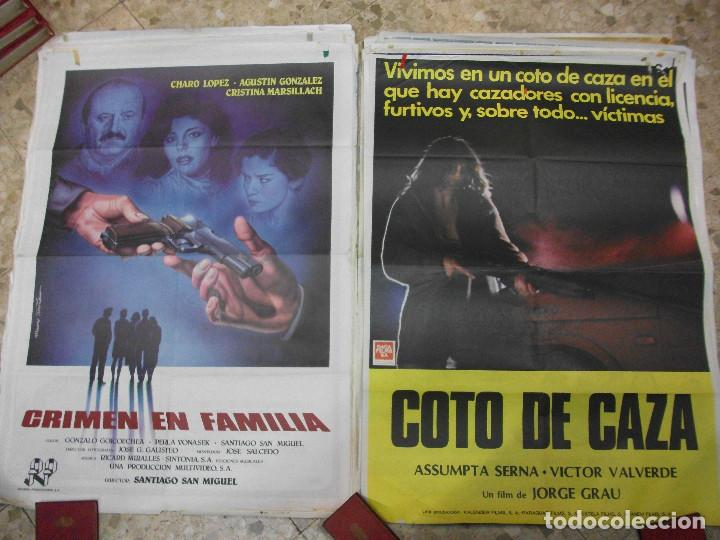 Cine: 35 CARTELES DE CINE ESPAÑOL 100 X 70 CM. CARTEL AÑOS 80-70 - Foto 10 - 191621367