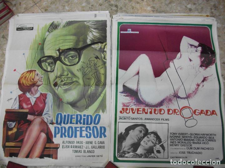 Cine: 35 CARTELES DE CINE ESPAÑOL 100 X 70 CM. CARTEL AÑOS 80-70 - Foto 11 - 191621367