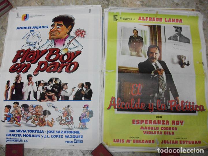 Cine: 35 CARTELES DE CINE ESPAÑOL 100 X 70 CM. CARTEL AÑOS 80-70 - Foto 12 - 191621367
