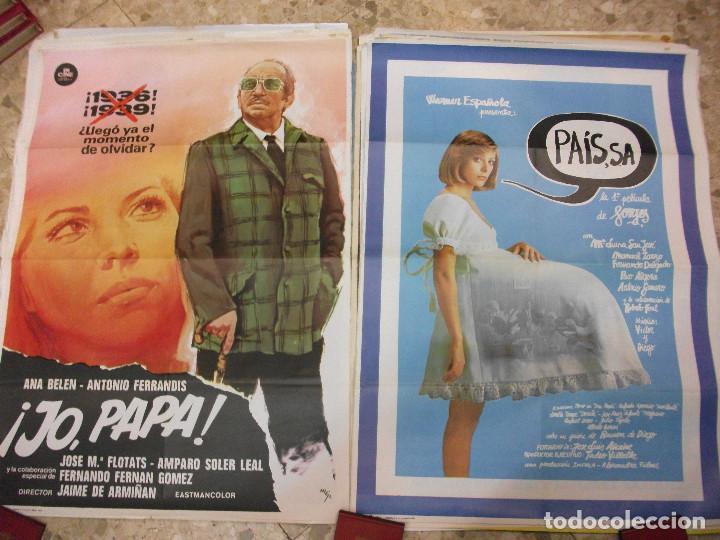 Cine: 35 CARTELES DE CINE ESPAÑOL 100 X 70 CM. CARTEL AÑOS 80-70 - Foto 13 - 191621367