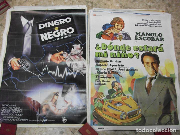 Cine: 35 CARTELES DE CINE ESPAÑOL 100 X 70 CM. CARTEL AÑOS 80-70 - Foto 14 - 191621367