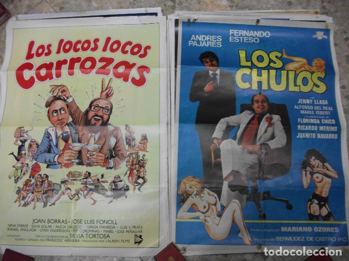 Cine: 35 CARTELES DE CINE ESPAÑOL 100 X 70 CM. CARTEL AÑOS 80-70 - Foto 15 - 191621367