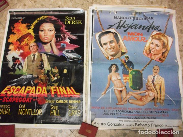 Cine: 35 CARTELES DE CINE ESPAÑOL 100 X 70 CM. CARTEL AÑOS 80-70 - Foto 17 - 191621367