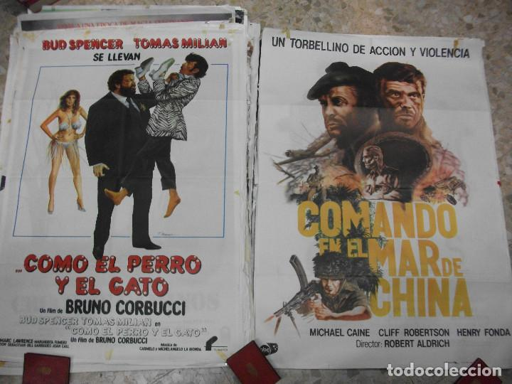 Cine: 84 CARTELES DE CINE EXTRANJERO 100 X 70 CM. CARTEL AÑOS 80-70 - Foto 5 - 191621966