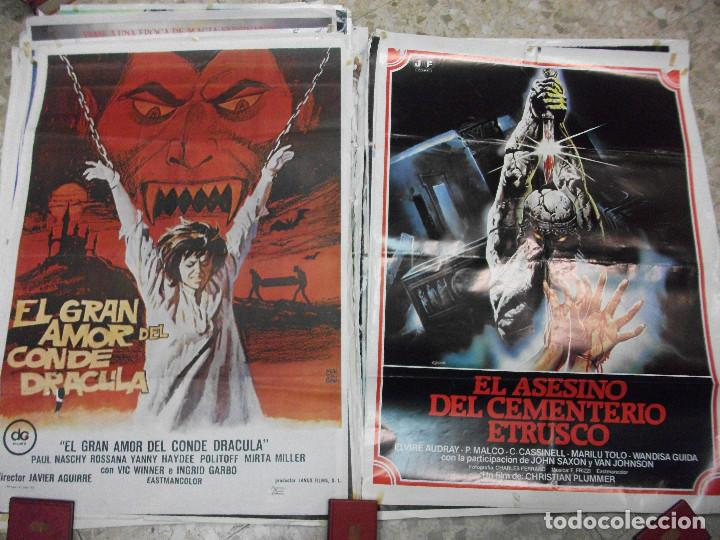 Cine: 84 CARTELES DE CINE EXTRANJERO 100 X 70 CM. CARTEL AÑOS 80-70 - Foto 9 - 191621966