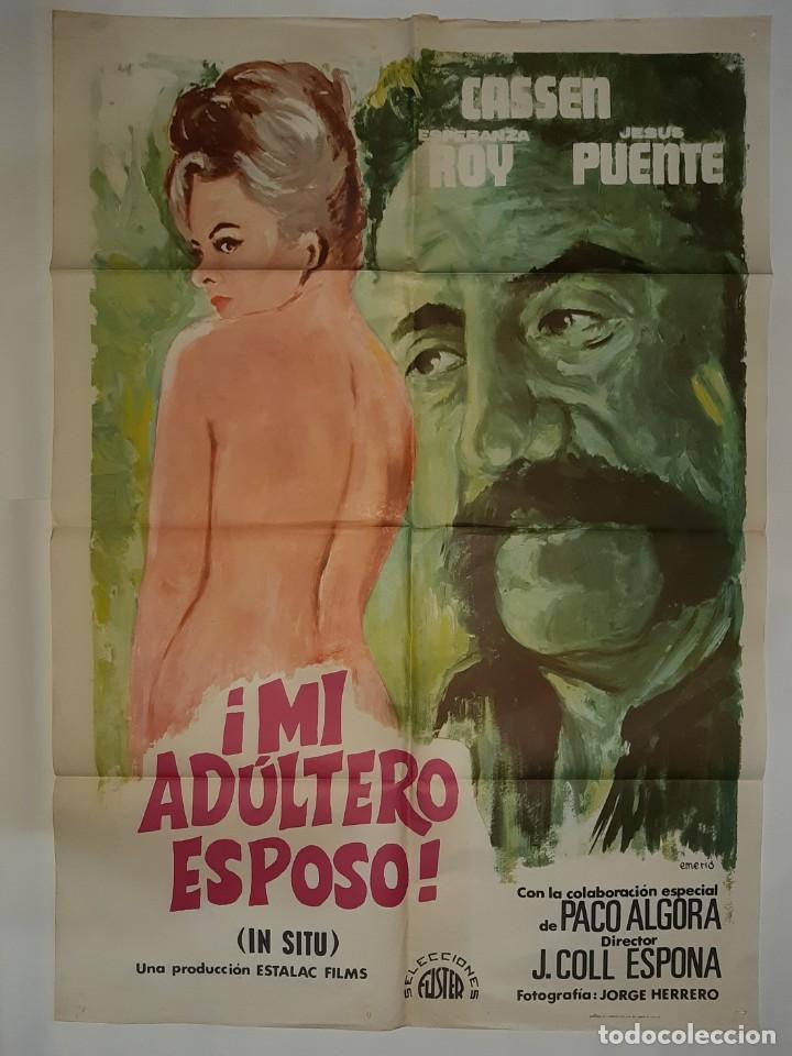 CARTEL CINE MI ADULTERO ESPOSO CASSEN 1975 EMERIO C 547 (Cine - Posters y Carteles - Clasico Español)