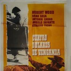 Cine: CARTEL CINE CUATRO DOLARES DE VENGANZA 1975 C 550. Lote 191731803