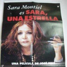 Cine: SARA UNA ESTRELLA - POSTER CARTEL ORIGINAL SARA MONTIEL JOSE BRIZ TERENCI MOIX. Lote 191880808