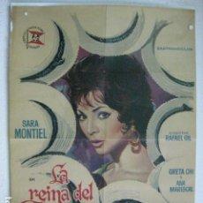 Cine: LA REINA DEL CHANTECLER - POSTER CARTEL ORIGINAL - SARA MONTIEL RAFAEL GIL ALBERTO DE MENDOZA. Lote 191882176