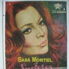 Cine: VARIETES - POSTER CARTEL ORIGINAL - SARA MONTIEL JANO JUAN ANTONIO BARDEM. Lote 191884276