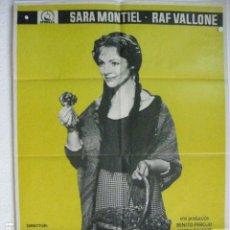 Cine: LA VIOLETERA - POSTER CARTEL ORIGINAL - SARA MONTIEL RAF VALLONE ANA MARISCAL. Lote 191901726