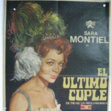 Cine: EL ULTIMO CUPLE - POSTER CARTEL ORIGINAL - SARA MONTIEL JUAN DE ORDUÑA ARMANDO CALVO. Lote 191902576