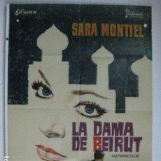 Cine: LA DAMA DE BEIRUT - POSTER CARTEL ORIGINAL - SARA MONTIEL GIANCARLO DEL LUCA. Lote 191919060
