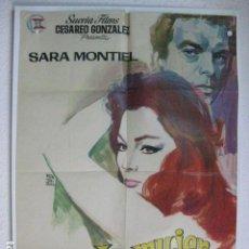 Cine: LA MUJER PERDIDA - POSTER CARTEL ORIGINAL - SARA MONTIEL GIANCARLO DEL LUCA. Lote 191919496