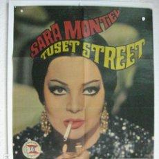Cine: TUSET STREET - POSTER CARTEL ORIGINAL - SARA MONTIEL LUIS MARQUINA. Lote 191919750