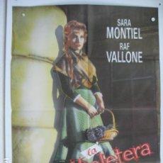 Cine: LA VIOLETERA - POSTER CARTEL ORIGINAL - SARA MONTIEL RAF VALLONE ANA MARISCAL LUIS CESAR AMADORI. Lote 191921250