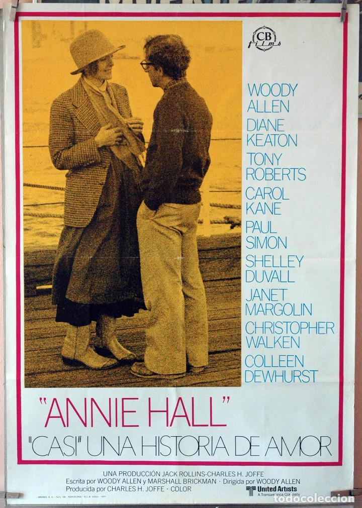 ANNIE HALL. WOODY ALLEN-DIANE KEATON. CARTEL ORIGINAL 1977. 70X100 (Cine - Posters y Carteles - Comedia)
