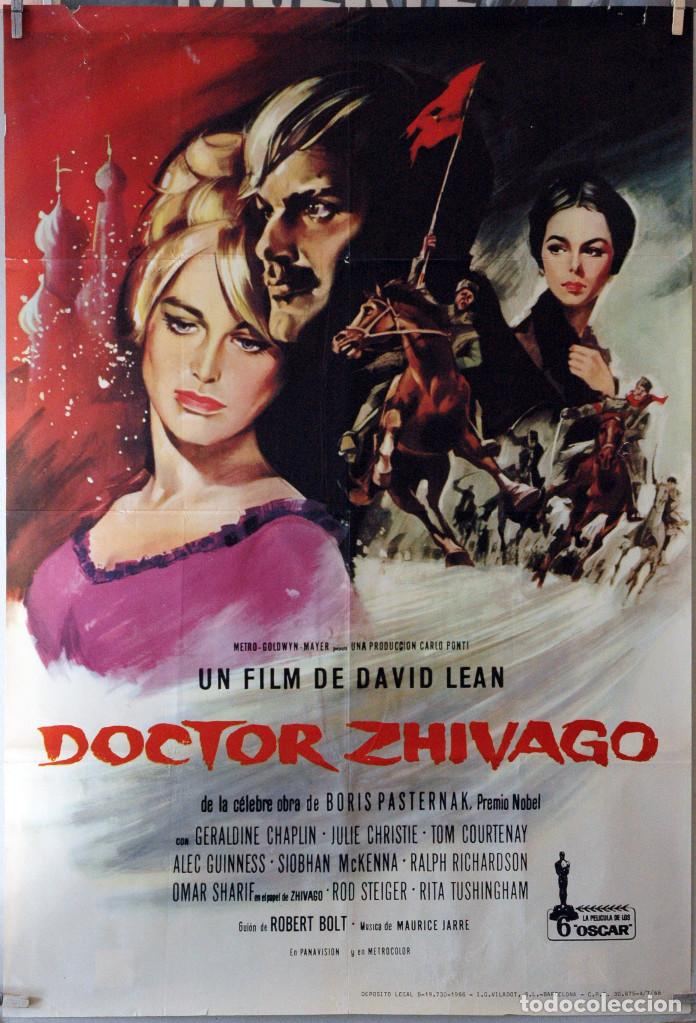 DOCTOR ZHIVAGO. DAVID LEAN-OMAR SHARIF-JULIE CHRISTIE. CARTEL ORIGINAL 1966. 100X70 (Cine- Posters y Carteles - Drama)