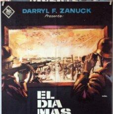 Cine: EL DÍA MÁS LARGO. CARTEL ORIGINAL 1962. 70X100. Lote 191956456