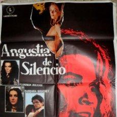 Cinéma: POSTER PELÍCULA ANGUSTIA DE SILENCIO 1972. Lote 191988688