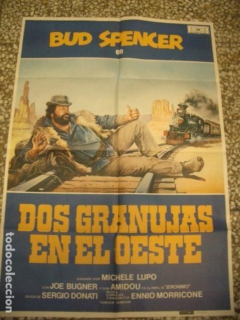 PÓSTER ORIGINAL DE 100X70CM BUD SPENCER EN DOS GRANUJAS EN EL OESTE (Cine - Posters y Carteles - Westerns)