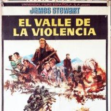 Cine: EL VALLE DE LA VIOLENCIA. JAMES STEWART-ANDREW MACLAGLEN. CARTEL ORIGINAL 1965. 70X100. Lote 192050476