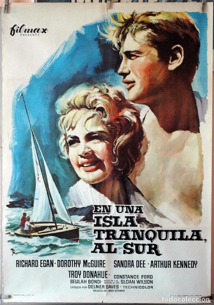 EN UNA ISLA TRANQUILA AL SUR- DELMER DAVES. CARTEL ORIGINAL 1971. 70X100 (Cine- Posters y Carteles - Drama)