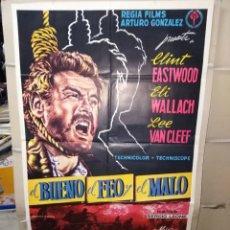 Cinéma: EL BUENO EL FEO Y EL MALO CLINT EASTWOOD LEONE ELI WALLACH LEE VAN CLEEF POSTER ORIGINAL 70X100. Lote 192080788
