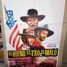 Cinema: EL BUENO EL FEO Y EL MALO CLINT EASTWOOD LEONE ELI WALLACH LEE VAN CLEEF POSTER ORIGINAL 70X100 P. Lote 192081231