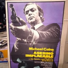 Cine: ASESINO IMPLACABLE GET CARTER MICHAEL CAINE POSTER ORIGINAL 70X100 ESTRENO. Lote 192082131