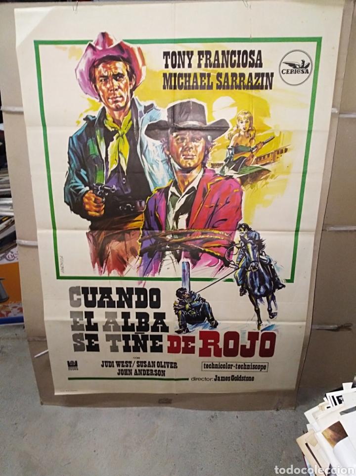 CUANDO EL ALBA SE TIÑE DE ROJO SPAGHETTI POSTER ORIGINAL 70X100 P (Cine - Posters y Carteles - Westerns)