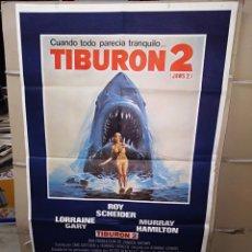 Cine: TIBURÓN 2 ROY SCHEIDER POSTER ORIGINAL 70X100 P. Lote 192099471